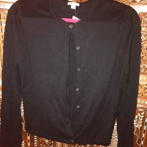 J Jill black cardigan sweater in great shape